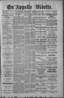Qu'Appelle Vidette  February 24, 1887