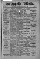 Qu'Appelle Vidette  January 13, 1887