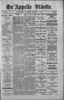 Qu'Appelle Vidette  August 11, 1887