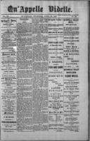 Qu'Appelle Vidette  April 28, 1887