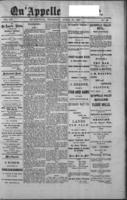 Qu'Appelle Vidette  April 21, 1887