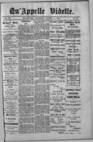 Qu'Appelle Vidette  August 18, 1887