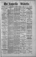 Qu'Appelle Vidette  August 4, 1887