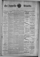 Qu'Appelle Vidette  December 15, 1887