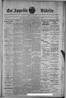 Qu'Appelle Vidette  December 1, 1887