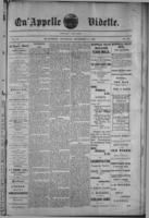 Qu'Appelle Vidette  December 8, 1887