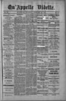 Qu'Appelle Vidette  February 10, 1887
