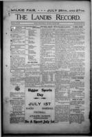 The Landis Record June 29, 1916