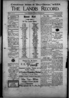 The Landis Record December 21, 1916