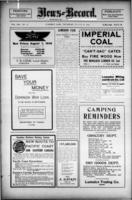 Lumsden News Review August 10, 1916