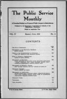 The Public Service Monthly June 1916
